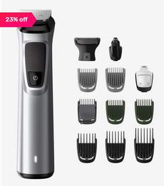 Philips MG7715/15 13 in 1 Face Hair and Body Multi Groomer Trimmer (Silver)