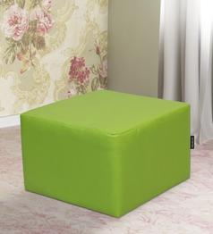 Kia Classic Filled Pouffe in Green Colour by Primrose