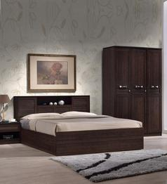 HomeTown - Bolton Queen Size Bed with Storage in Wenge Colour