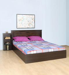 Nilkamal - Harrier King Size Bed with 1 Side Table in Wenge Colour