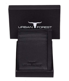 Urban Forest Chris RFID Blocking Black Leather Card Case for Men