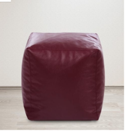Large Size Square Bean Bag Pouffe Cover in Maroon Colour by Style Homez