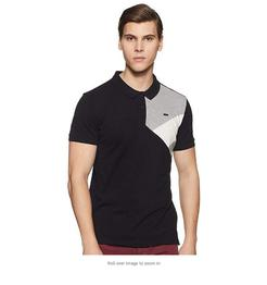 People Men's Regular fit Polo T-Shirt (Black)