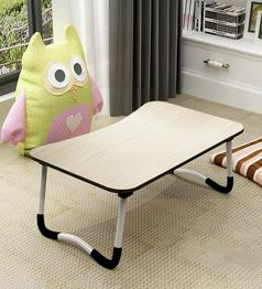 Topsy Portable Laptop Table in Beige Colour by Kawachi
