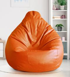 Get 6% OFF On Classic XXL Bean Bag Cover in Orange Colour by Style HomeZ
