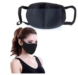 kiros Mouth Nose Cover For Tvs Star City Anti-pollution Mask (Black, Pack of 1) Mask and Respirator