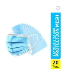 Gubb USA Protection 3-Ply Surgical Masks (Pack of 20)