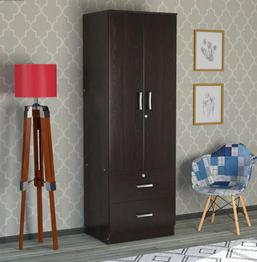 Save 41% OFF On Ren 2 Door Wardrobe with Drawers in Wenge Finish by Mintwud