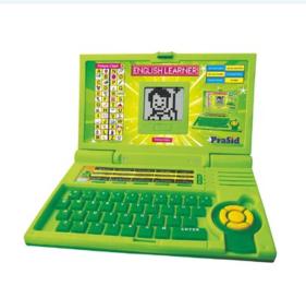 Prasid English Learner Kids Laptop 20 Activities Green