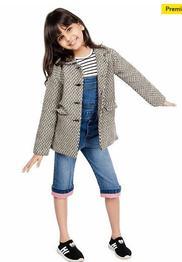 Olele Herringbone Full Sleeves Jacket - Grey