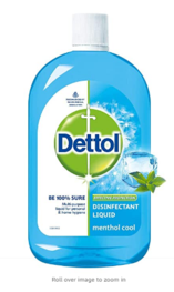 Dettol Liquid Disinfectant for Multi-Purpose Germ Protection, Menthol Cool, 500ml