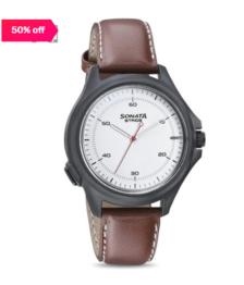 Home Watches Men Analog Sonata 7130PL01 Stride Smartwatch for Men