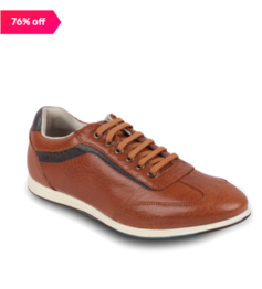 Franco Leone Tan & Navy Casual Sneaker