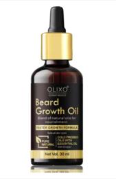 OLIXO Beard Growth Oil for Strong and Healthy Beard Hair Oil (30 ml)