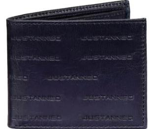 Men Blue Leather Wallet