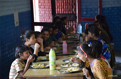 special meal at deepalaya childrens home