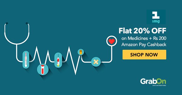 Flat 25% OFF + 15% Cashback | 1mg Coupons & Offers | Aug 2019