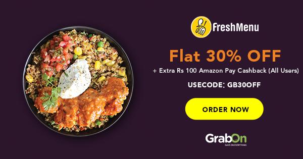 FreshMenu Coupons, Offers: Flat 30% Off Coupon Code | FREE