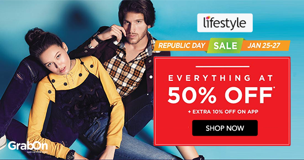 32ab0b89399ad Lifestyle Coupons & Offers: 70% + Rs 500 OFF Promo Codes Jun 2019