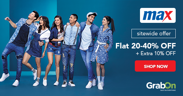 52000ddf460 Max Fashion Coupons & Offers | Upto 50% + Rs 300 OFF Promo Codes