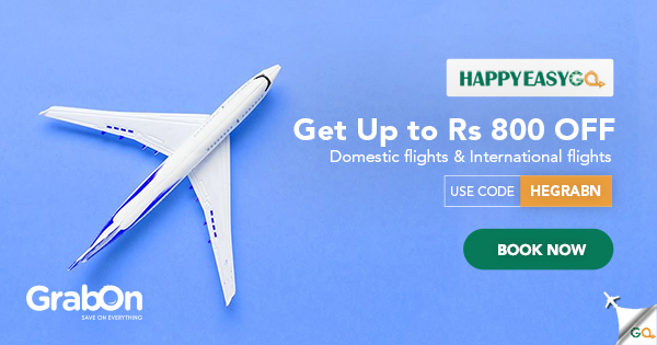 HappyEasyGo Coupons: Flight Offers Rs 2000 OFF Code | Sep 2019