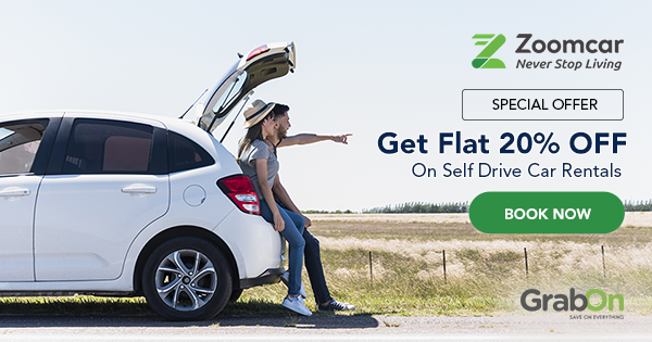 ZoomCar Coupons & Offers | Rs 2000 OFF Promo Codes | Sep
