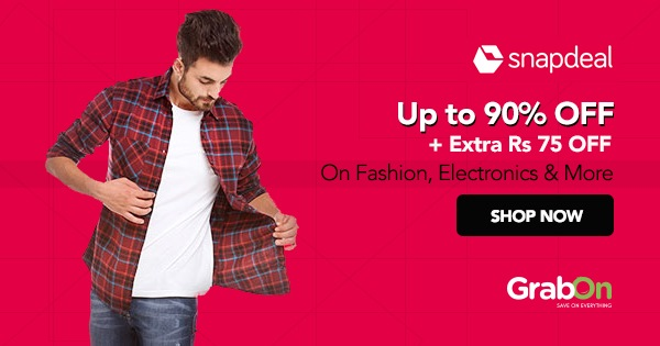 458607f37 Snapdeal Promo Codes Up to 90% OFF Snapdeal Offers