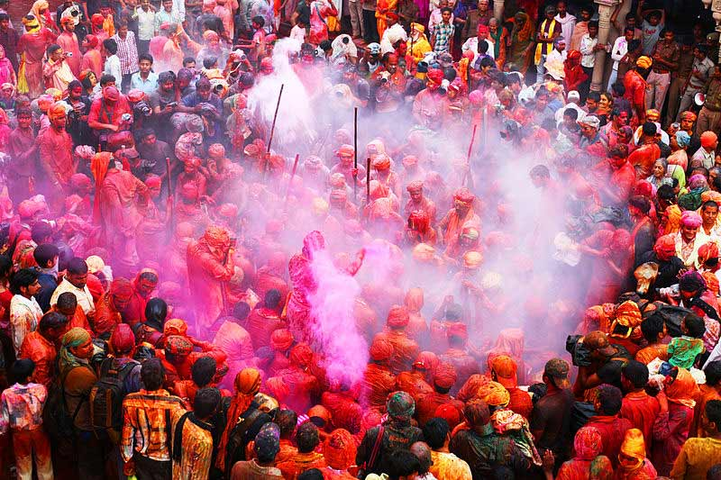 Holi celebrations in Barsana, Uttar Pradesh