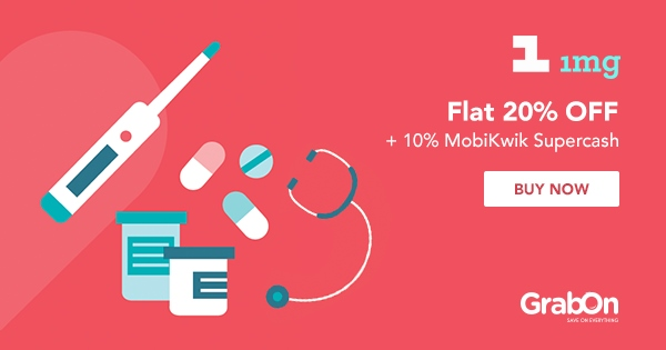Flat 25% OFF + 15% Cashback | 1mg Coupons & Offers | Sep 2019