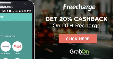 DTH Recharge Offers Today → Rs 250 Cashback Coupons, Aug 2019