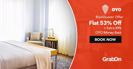 OYO Rooms Coupons & Offers: Flat 60% OFF Promo Code