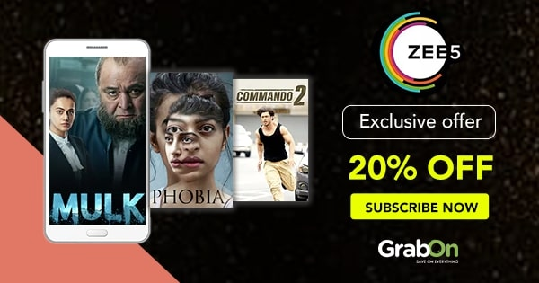 ZEE5 Coupon Code & Offers: Flat 40% OFF on All Subscription | Aug 2019