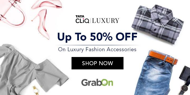 1b1671952cb Tata CLiQ Luxury Coupons & Offers: 50% OFF Promo Codes, Jul 2019