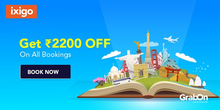 Ixigo Coupons, Offers Rs 2200 OFF On All Bookings, Sep 2019