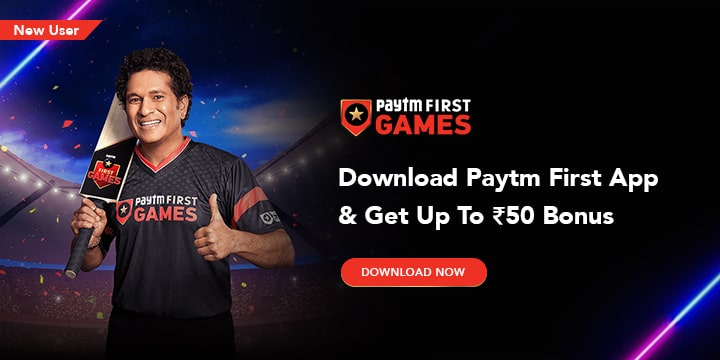 Paytm First Games Online Coupons