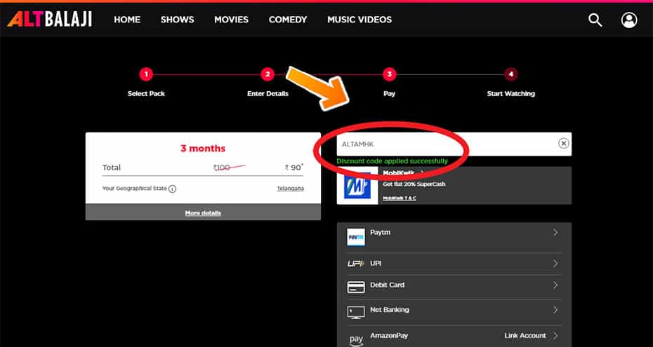 How to Use Altbalaji Offers