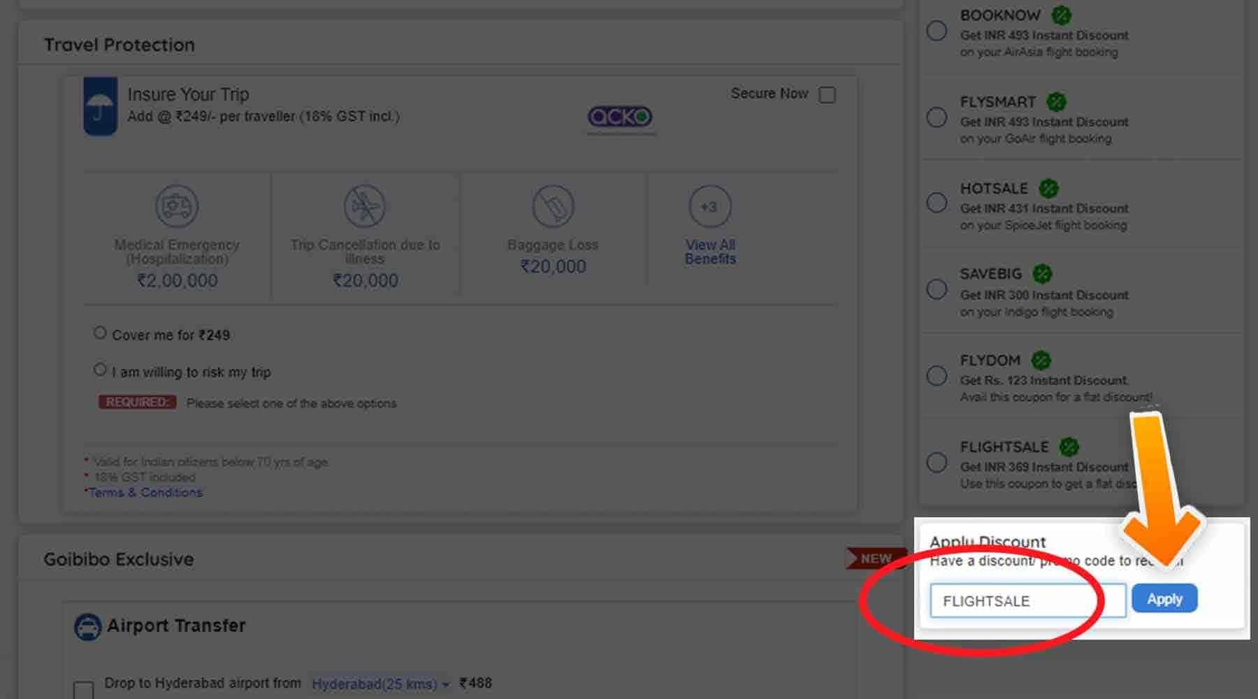 How to use Goibibo Discount code